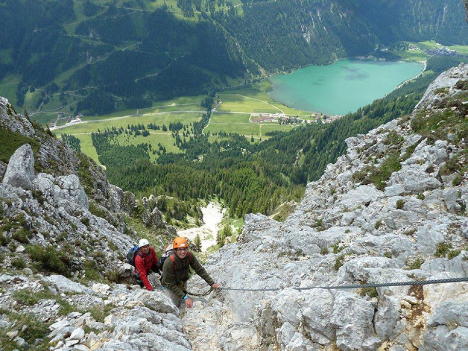 Klettersteig Tannheimer Tal : Faszination klettersteig u eine klettersteigtour im tannheimer tal